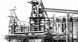 foto di repertorio in bianco e nero di un impianto dell'azienda