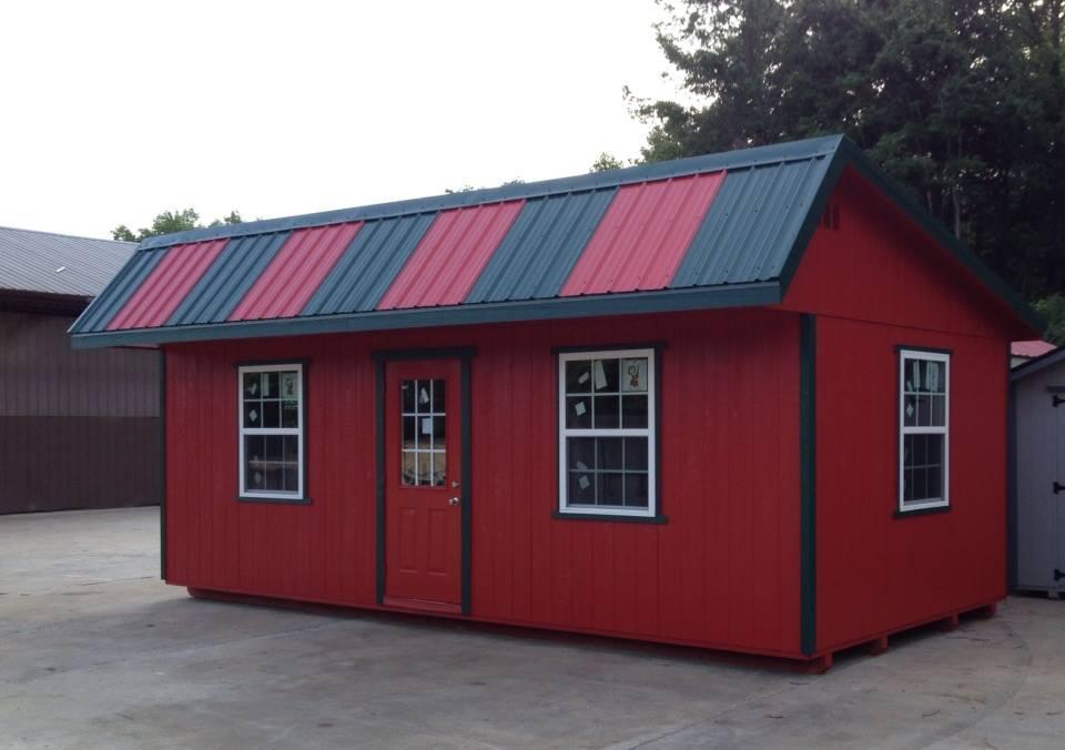 Quality built portable storage building.