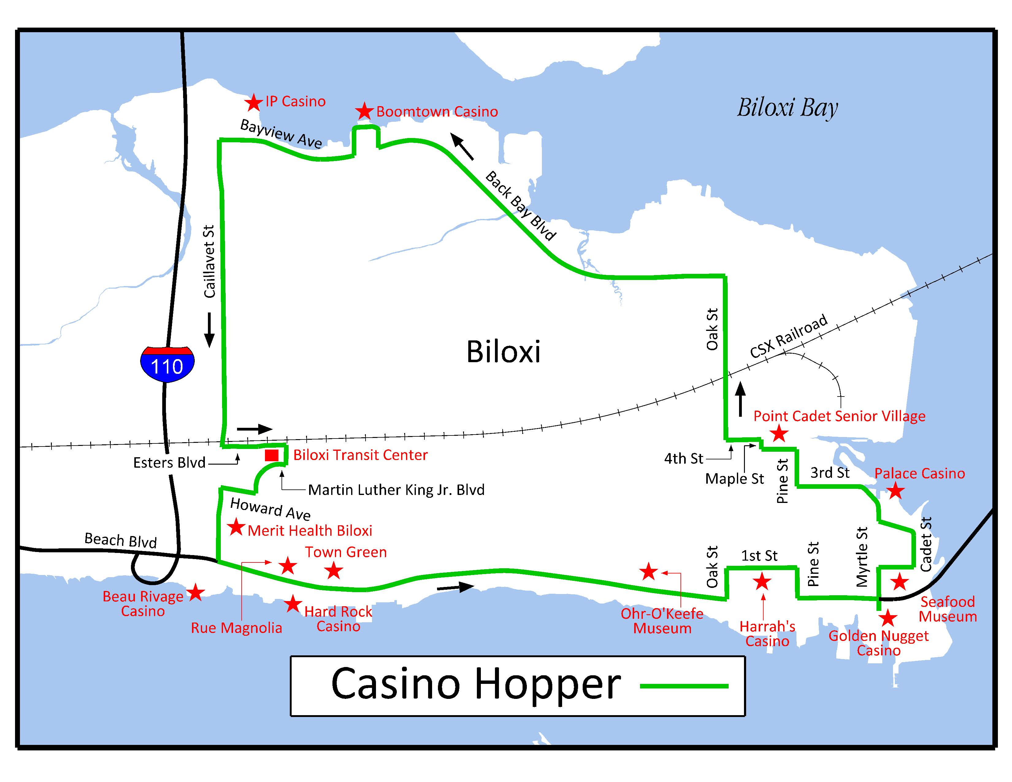 Casino Map Of Biloxi