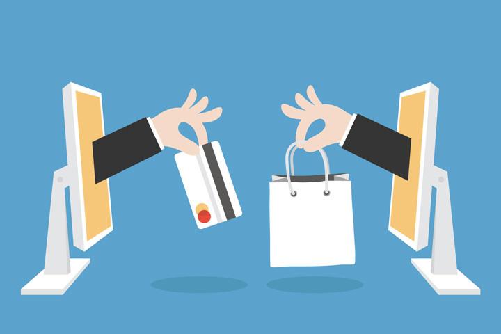 online shopping vector graph
