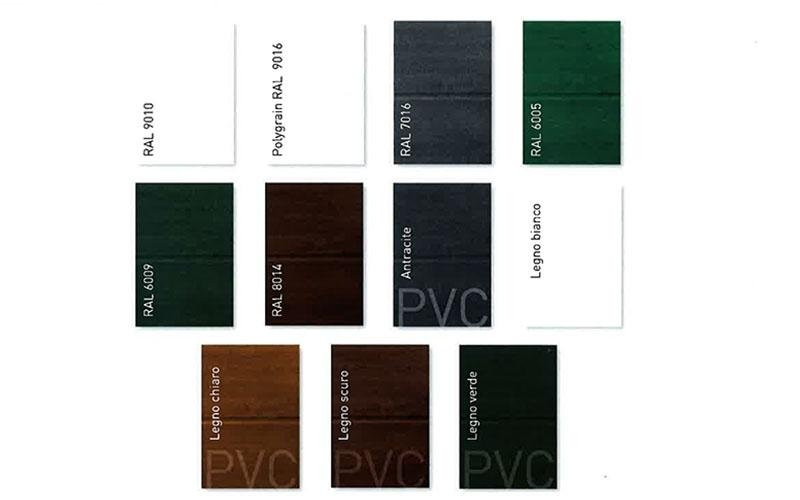 Portoni sezionali Doga Alta - colori disponibili - Possibilita