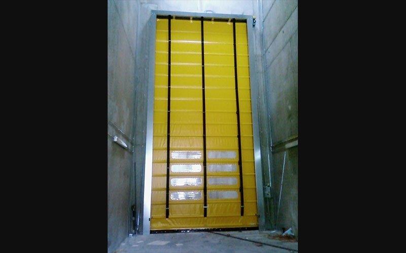 Porta ad impacchettamento gialla