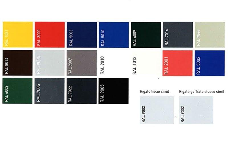 Portoni sezionali Linea Industriale - Colori disponibili