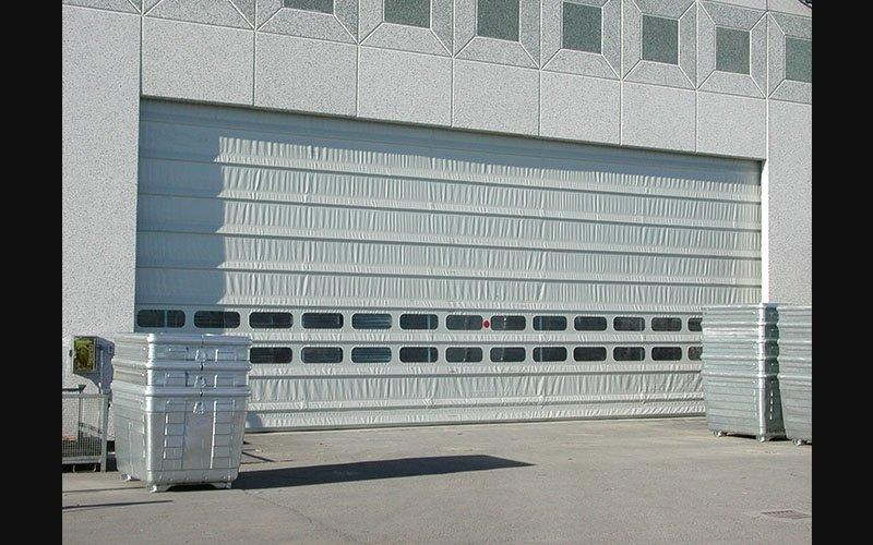 Nord Zinc Porta ad impacchettamento grigia