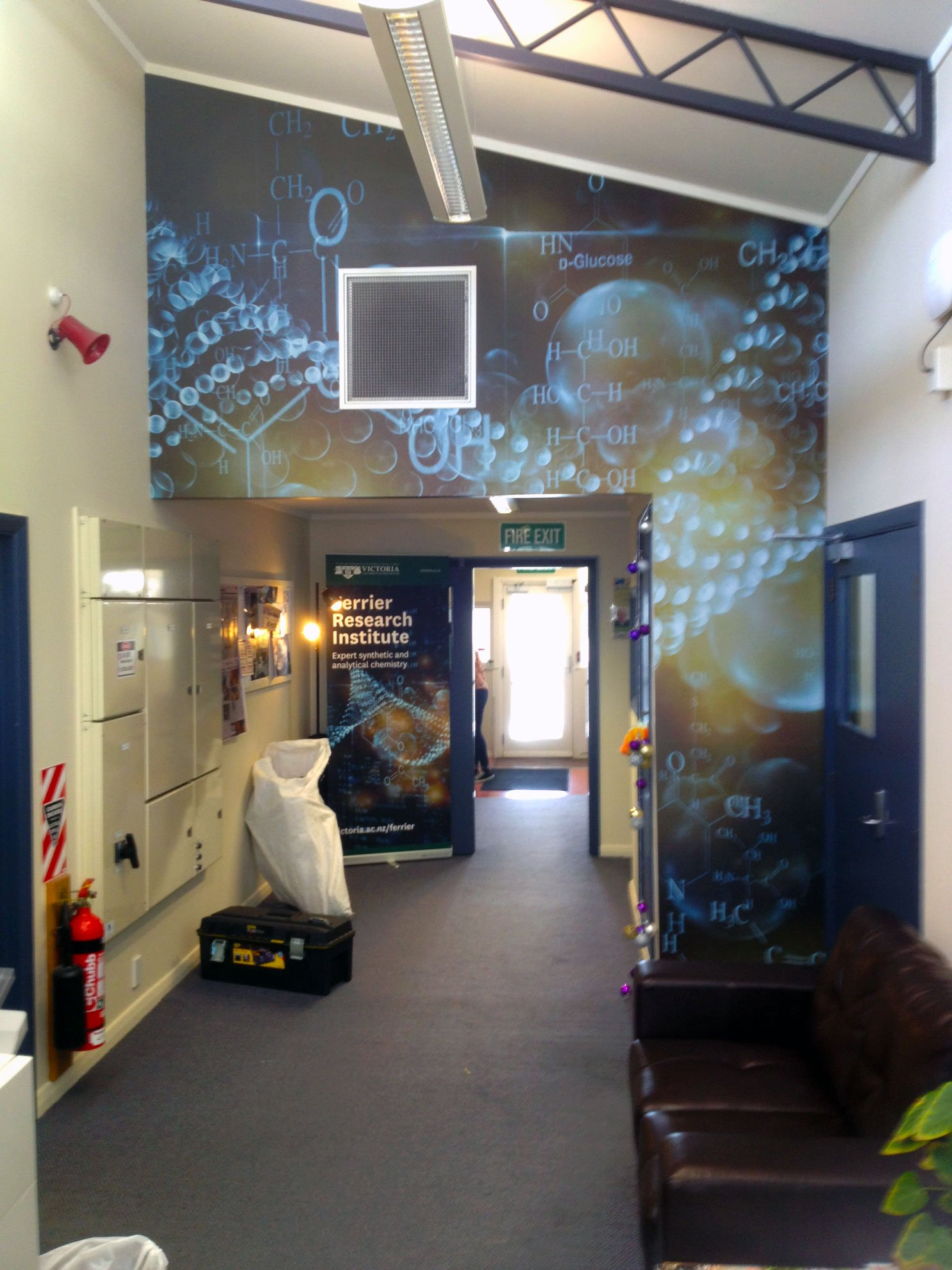 Laminated digital prints applied to wall