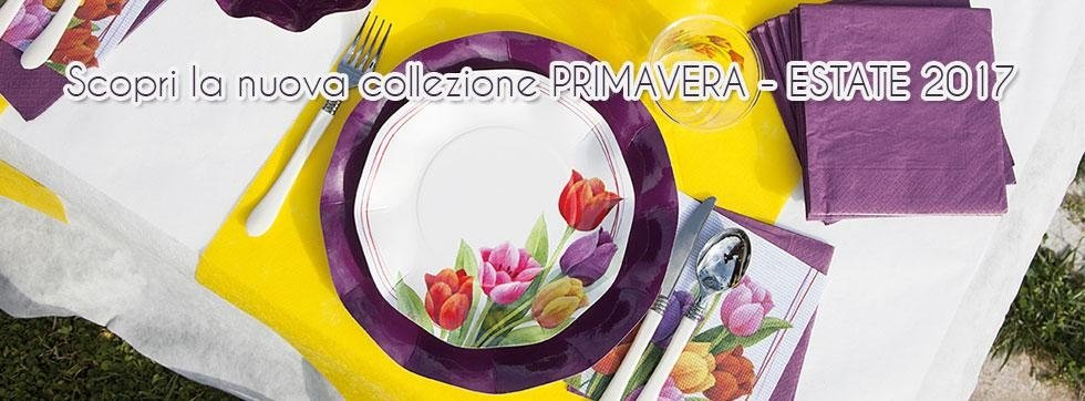 piatti in carta decorati in tema primaverile