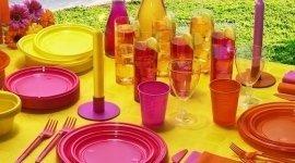 plastica colorata monouso