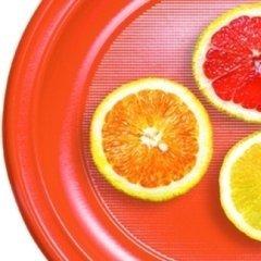 piatti plastica arancione