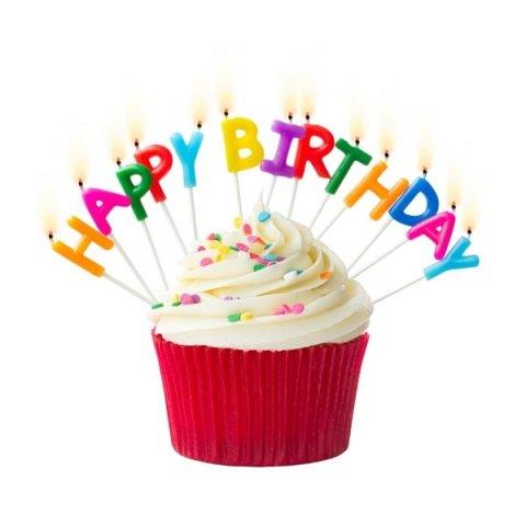 candeline per torte di compleanno