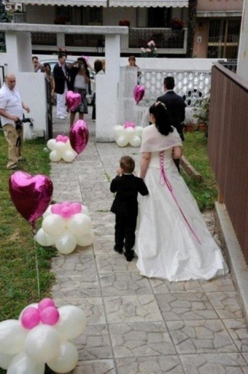 composizioni di palloncini per spose