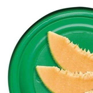 piatti plastica verde