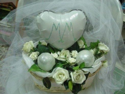 palloncino cuore binaco