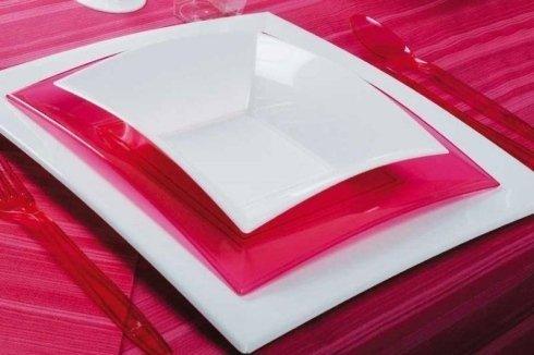 Coordinato tavola plastica colorato