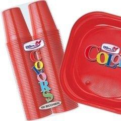 piatti plastica rossi