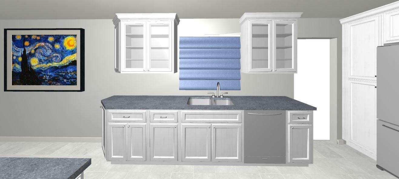 Custom Kitchen 3D Design Rendering