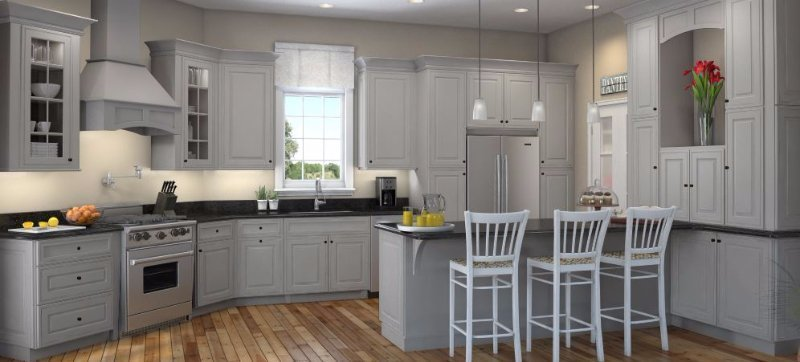 Waypoint Kitchen Cabinets. Traditional Kitchen Design With Granite ...
