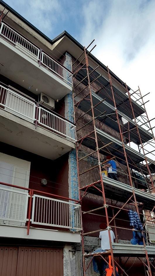 processi di realizzazione facciata