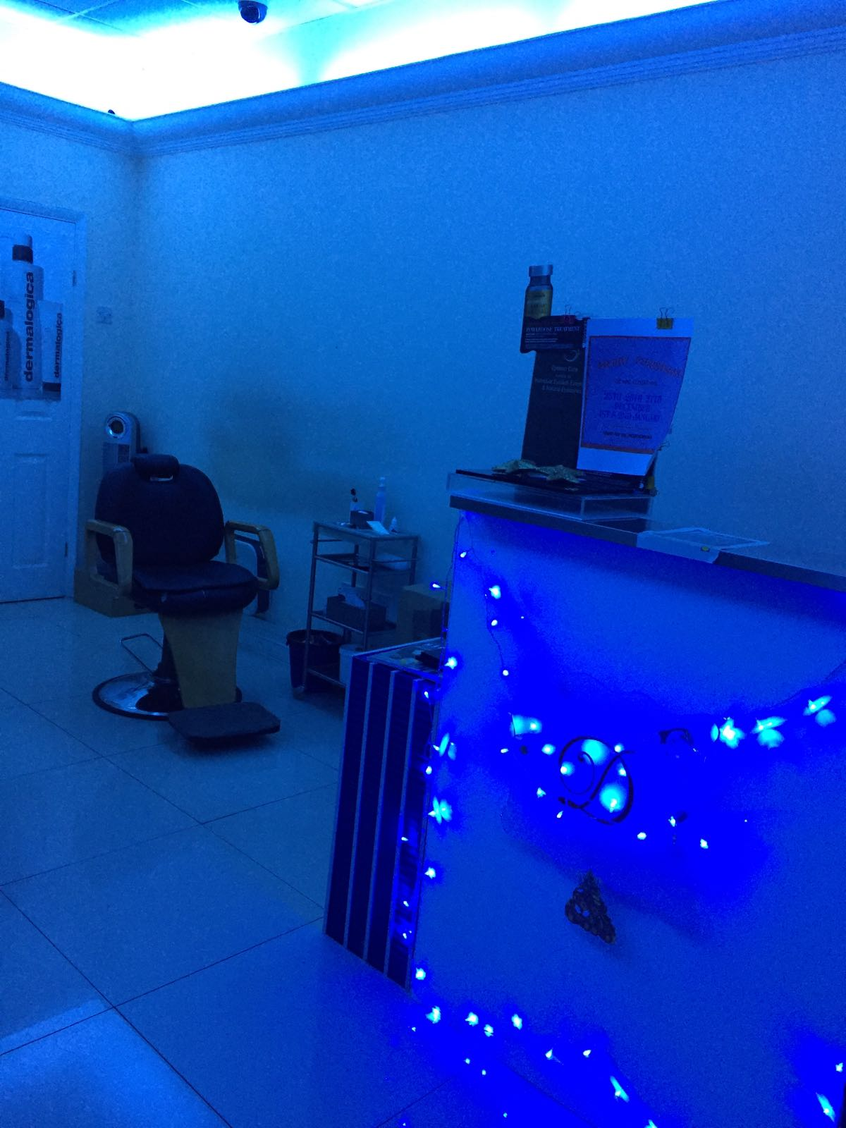 blue coloured lights
