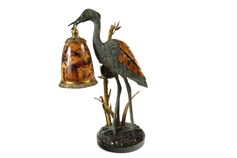Custom Bird Lamp   Houston TX   The Shade Tree