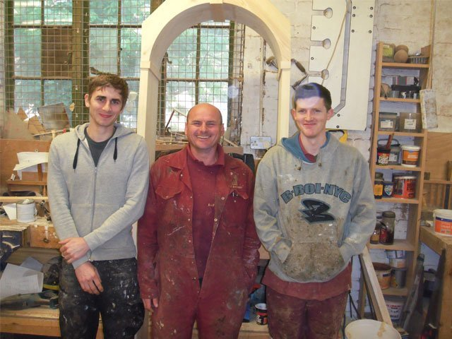 Members of the B and P Joinery team in the Worcester based workshop