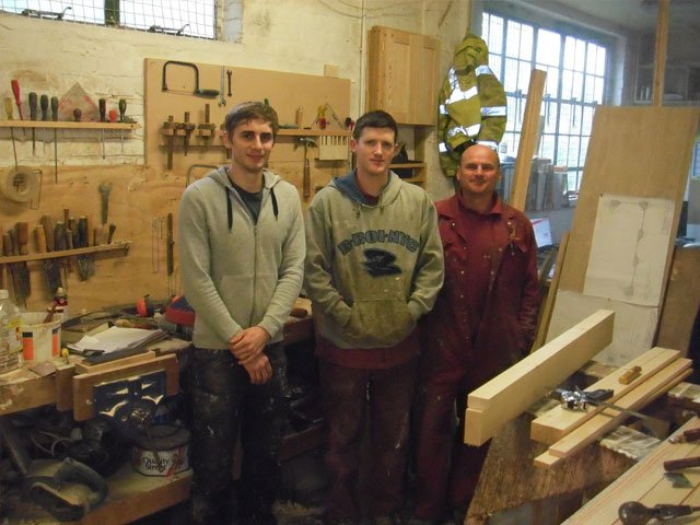 3 of the joiners from B and P Joinery in Worcester