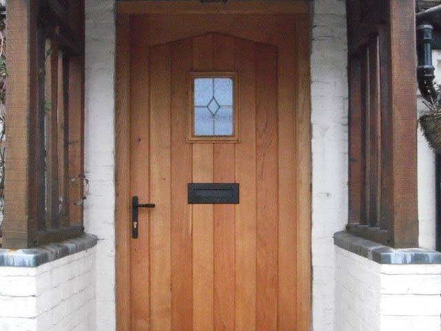 A timber door hand crafted by B and P Joinery in Worcester