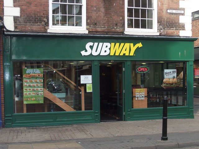 Bespoke timber shop front installed at Subway, by B and P Joinery of Worcester