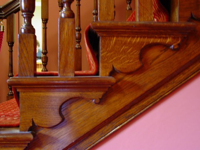 Part of the Grand Stair Case at Worcester Guild Hall. Constructed by B and P Joinery