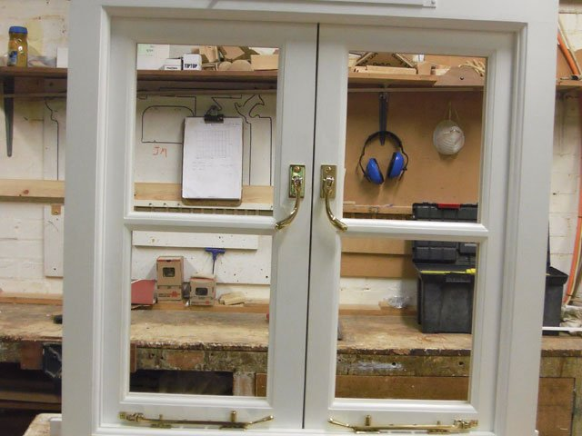 Timber windows constructed at B and P Joinery in Worcester