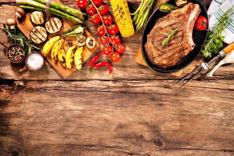 grigliata carne e verdura