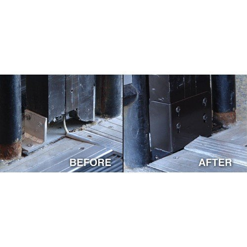 Jamb anchor - before and after