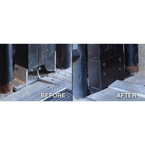 Jamb anchor - center jamb - installed
