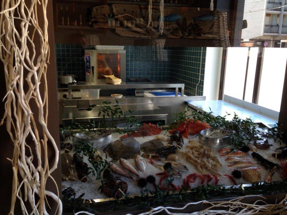Vetrina espositiva pesce