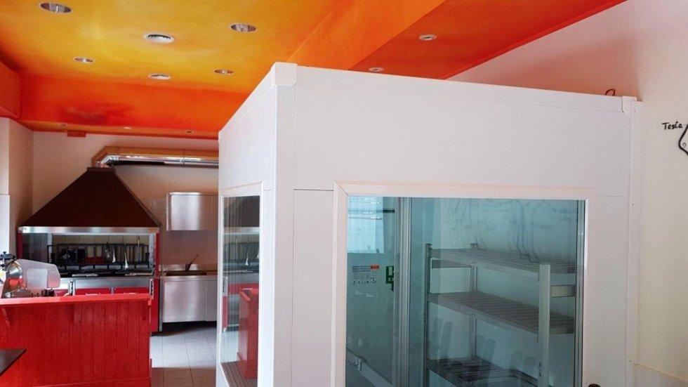 Cella frigorifera vetrata
