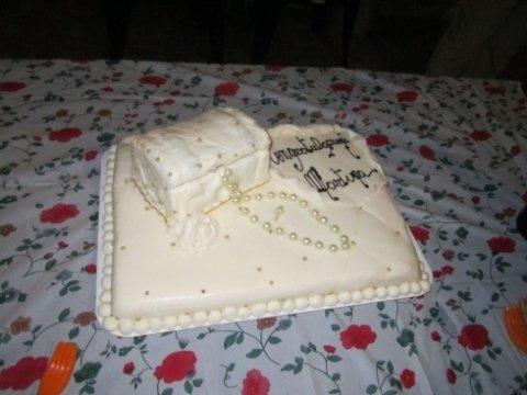 torta con gioielli