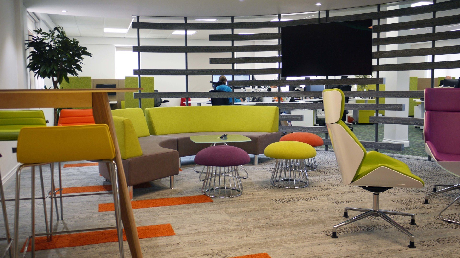 Chairs And Tables In An Office Designed By Dsp Interiors