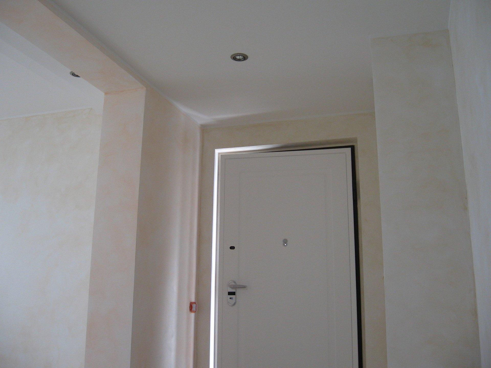 Porta di sicurezza di PVC bianco