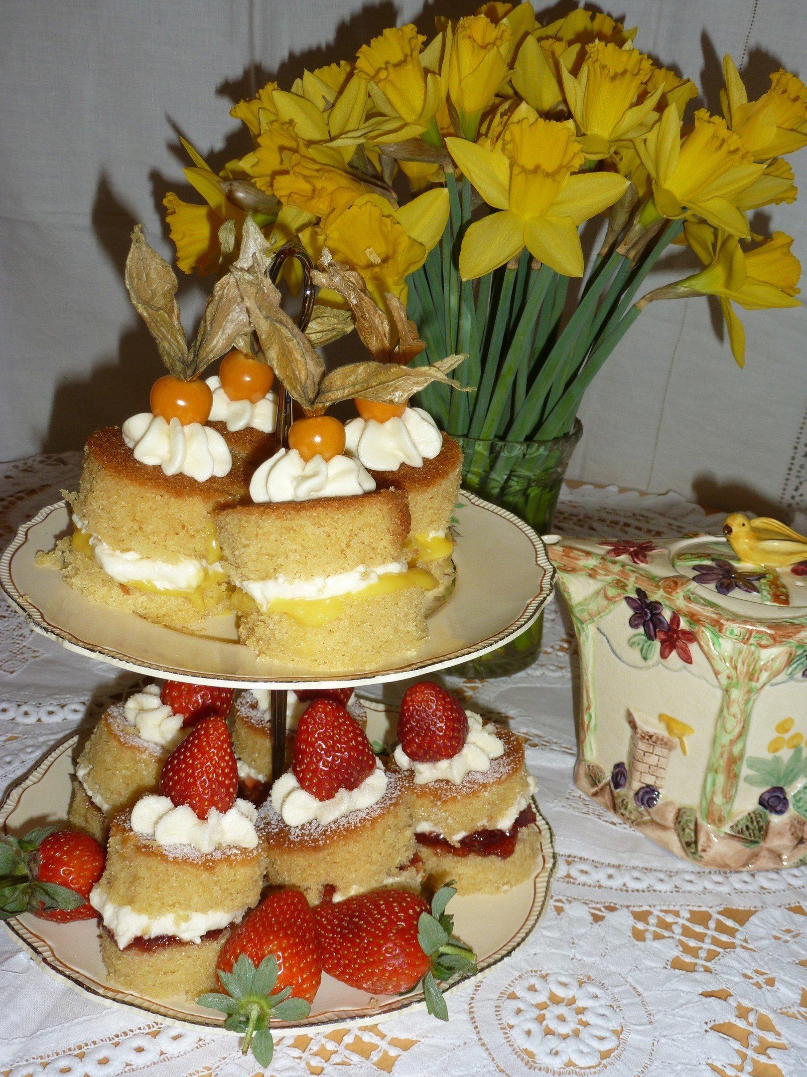 individual fruit sponges