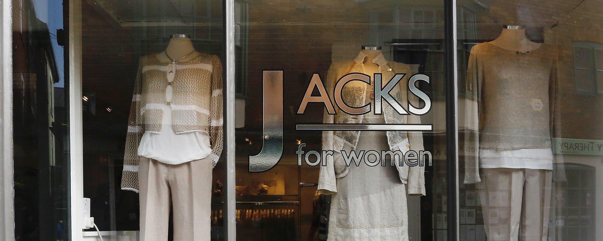 Shopfront of a women's clothing boutique in Market Harborough