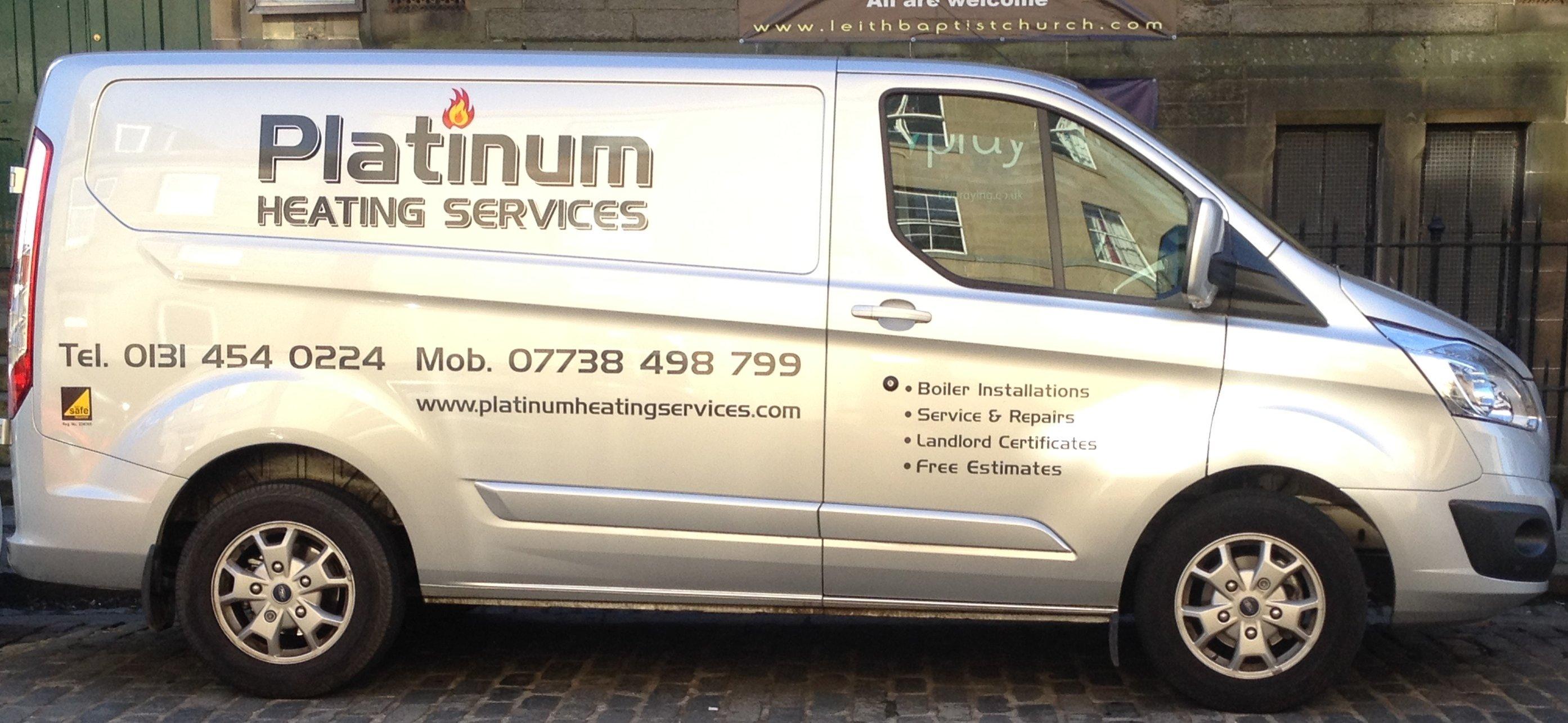 Platinum Heating Services company van