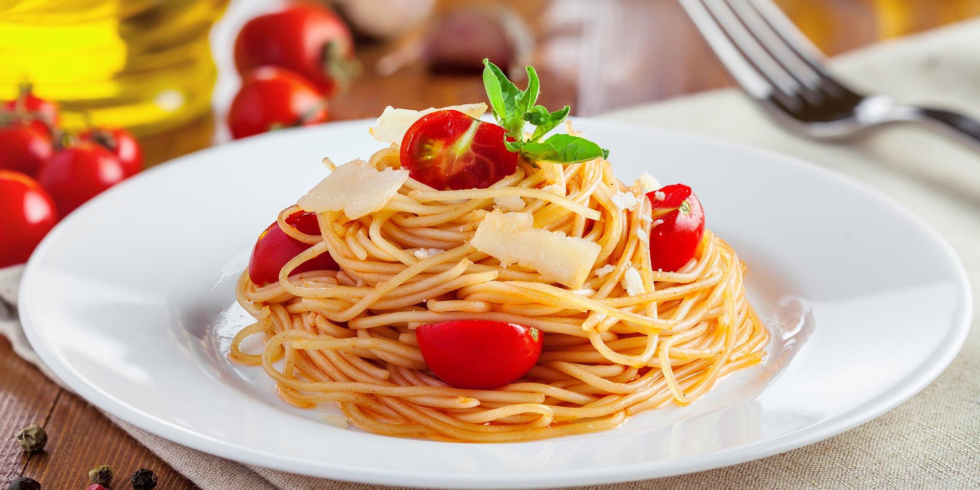 Spaghetti con pomodori