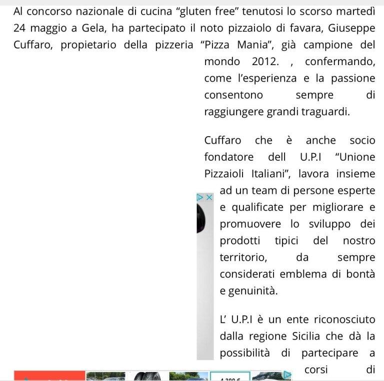 Pizza acrobatica, il favarese Giuseppe Cuffaro conquista titolo a Napoli