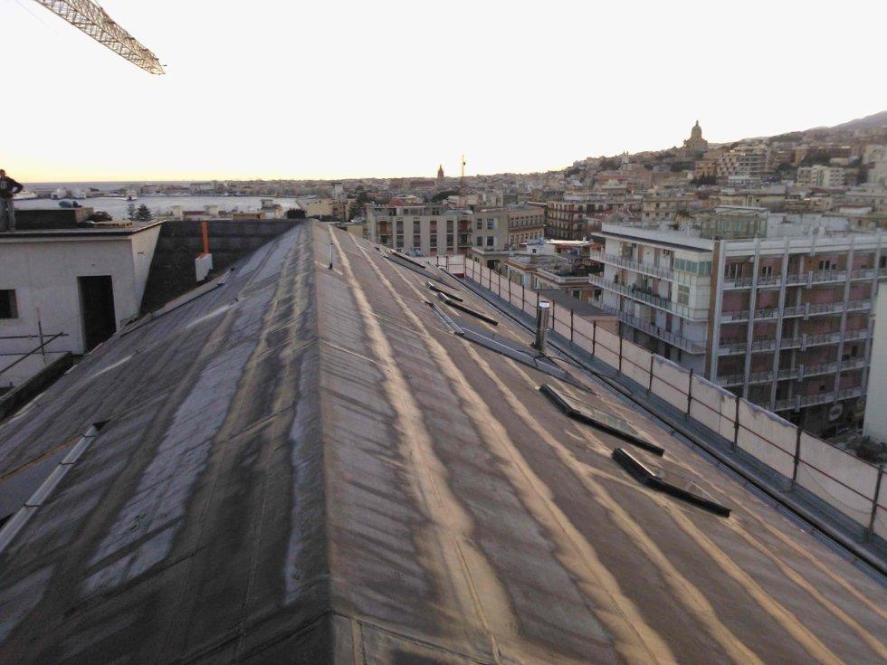 Impermeabilizzazione copertura - Palazzo Leonardo - Messina