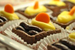 più gusti, cioccolato e crema pasticcera, tortini