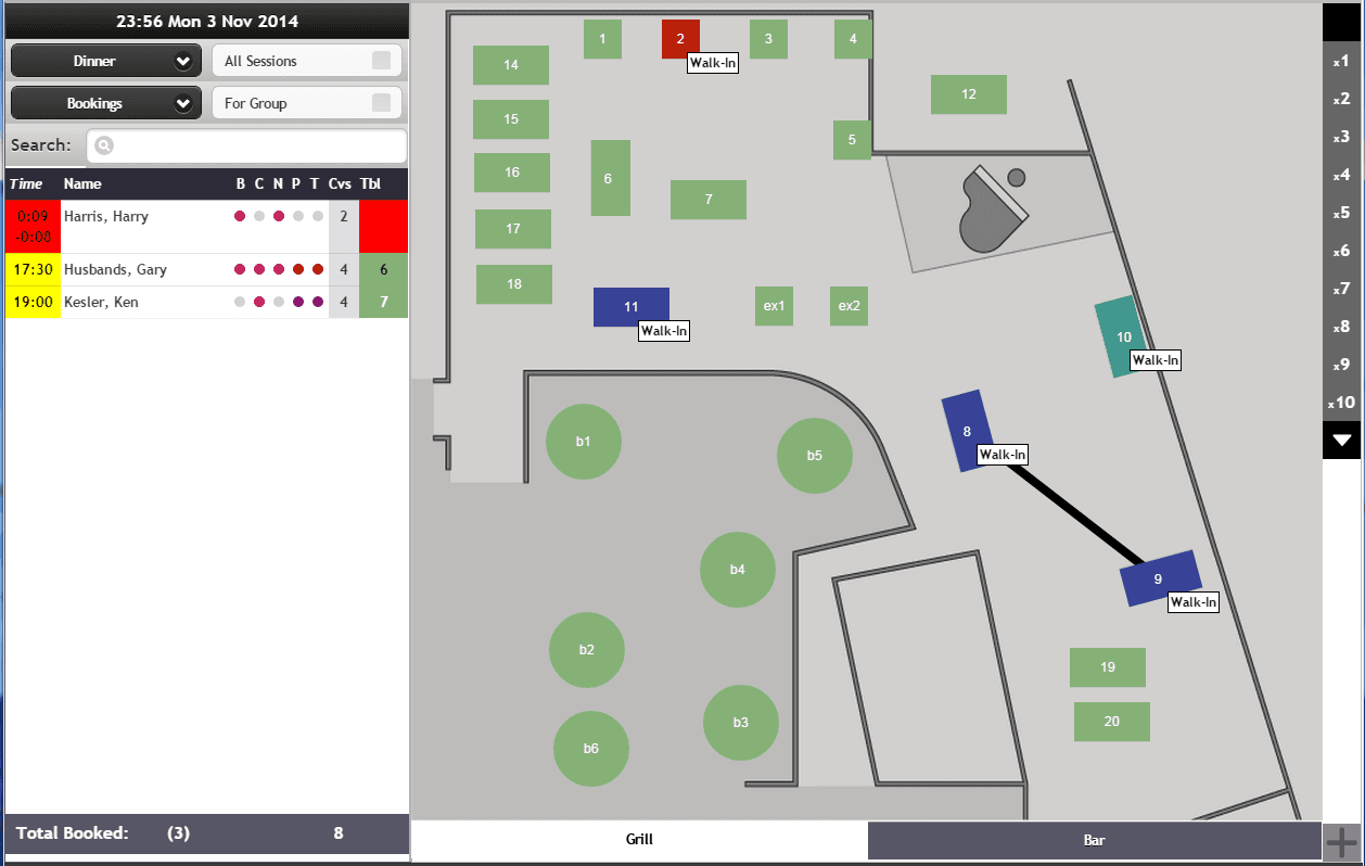 ResEasy - Restaurant Reservation System Main Screen