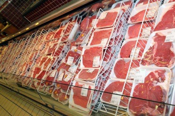 Supermercato reparto carne