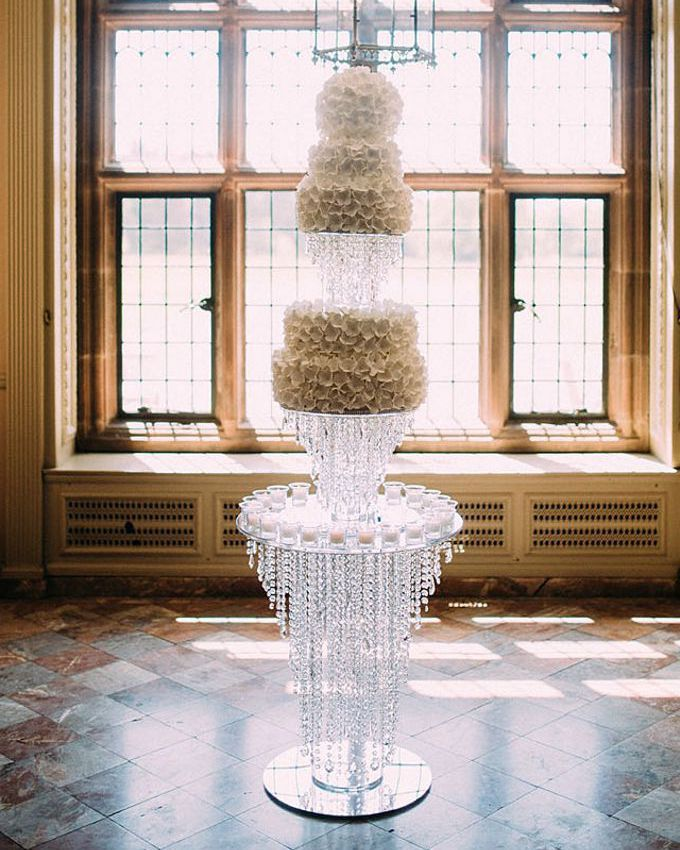 Crystal cake stand, crystal table, cake table