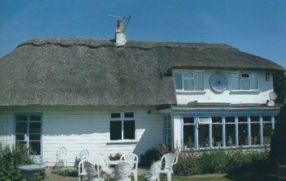 newly installed thatching