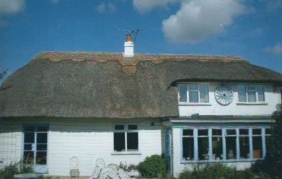 chimney on top of roofing