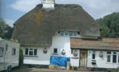 sloped thatching